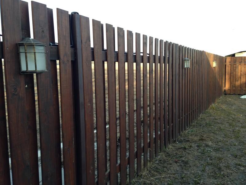 Монтаж деревянных заборов в Мытищах